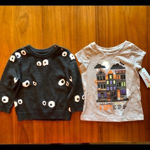 Kids Halloween Sweater and T-Shirt Set